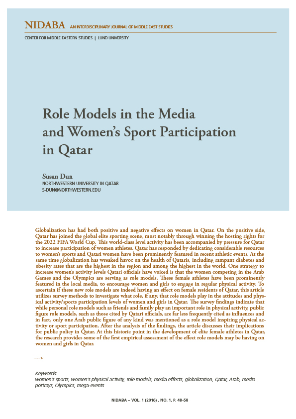 Role Models in the Media  and Women's Sport Participation  in Qatar