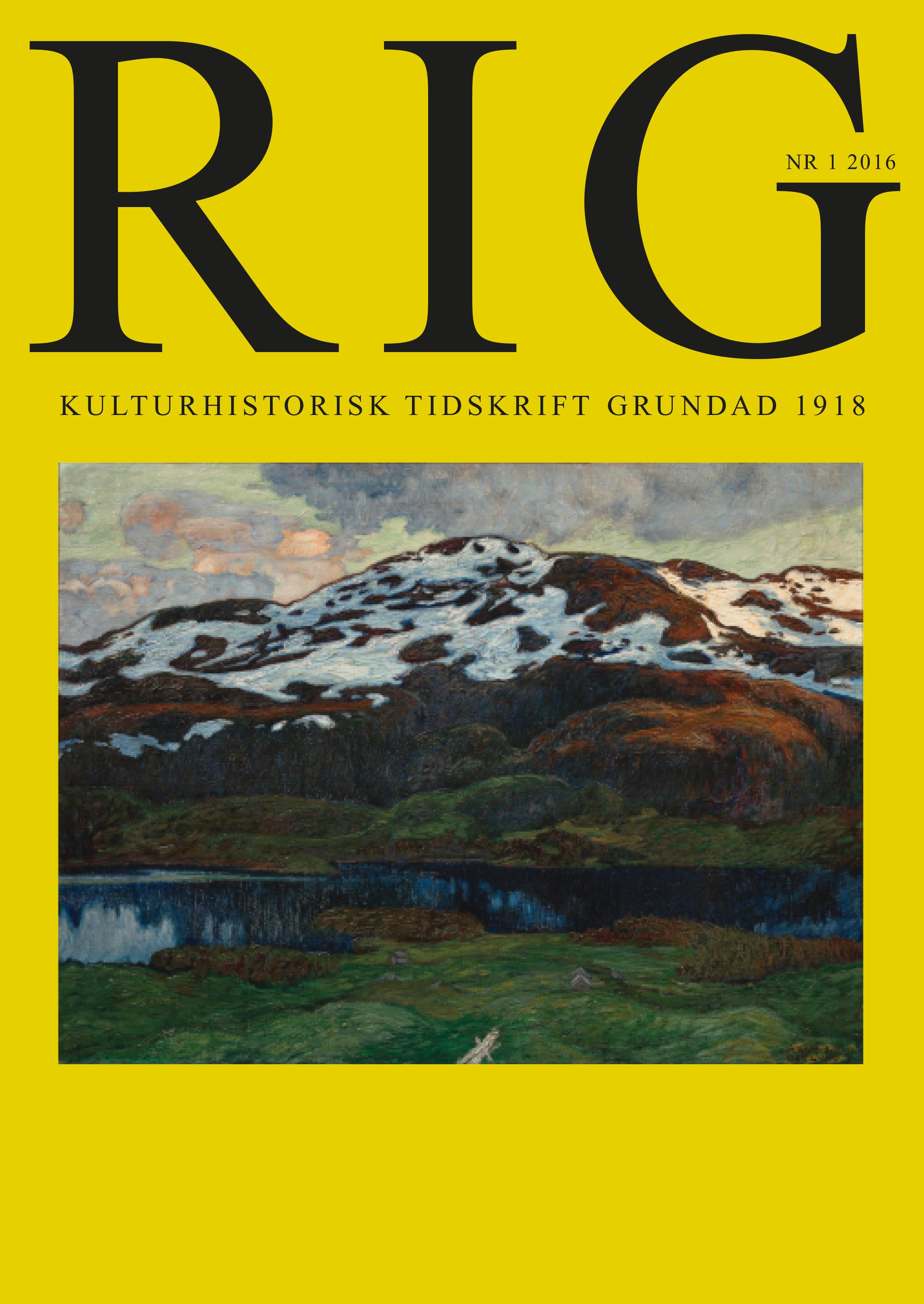 View Vol. 99 No. 1 (2016)
