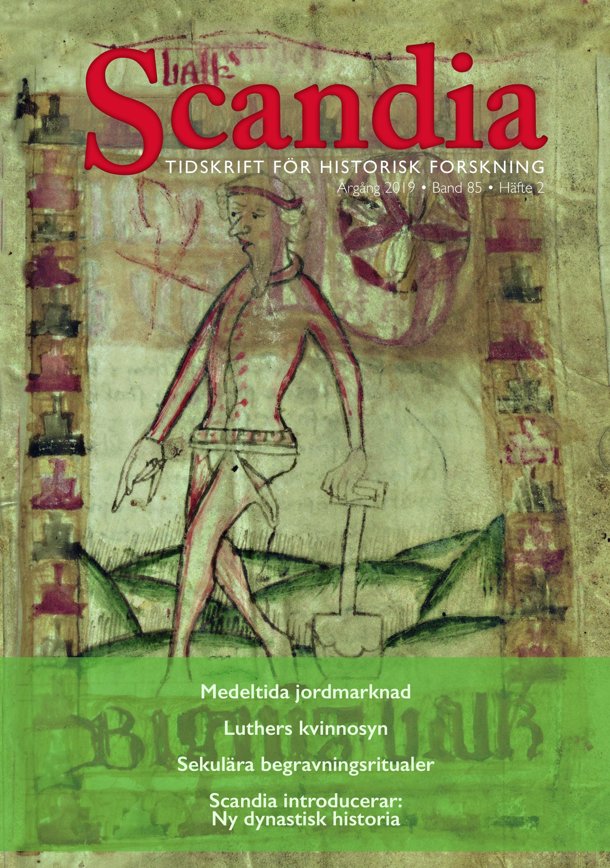 omslag till Scandia tidskrift för historisk forskning