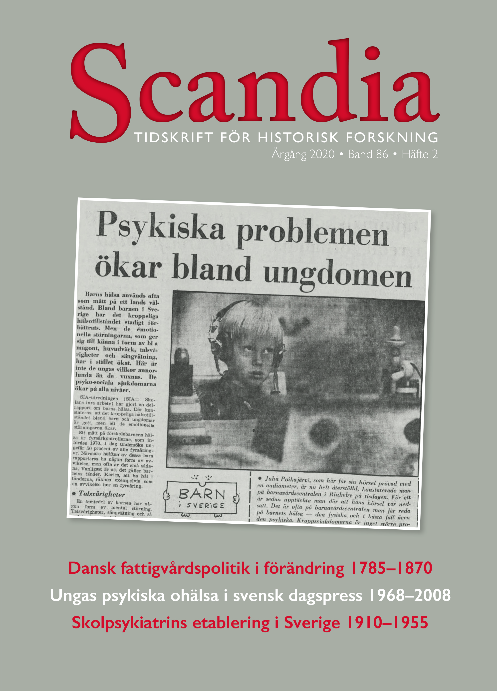 View Vol. 86 No. 2 (2020): Scandia