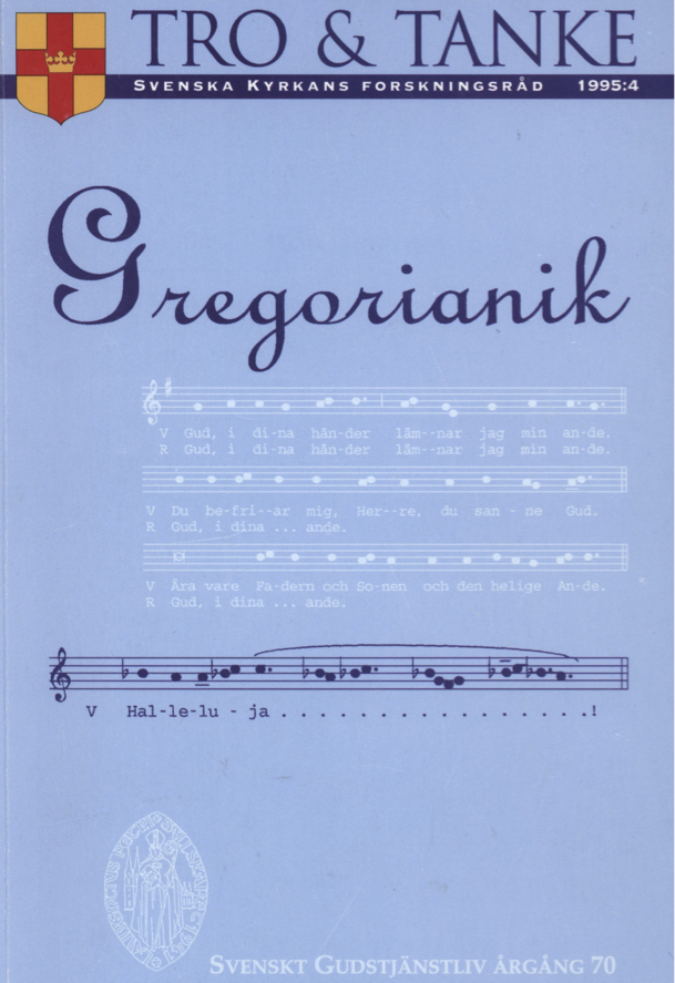 Visa Vol 70 (1995): Gregorianik