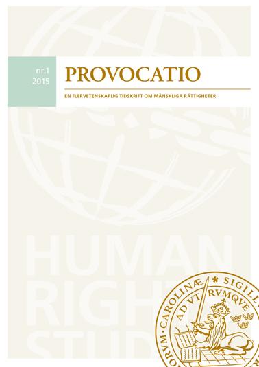 Provocatio. En flervetenskaplig tidskrift om mänskliga rättigheter