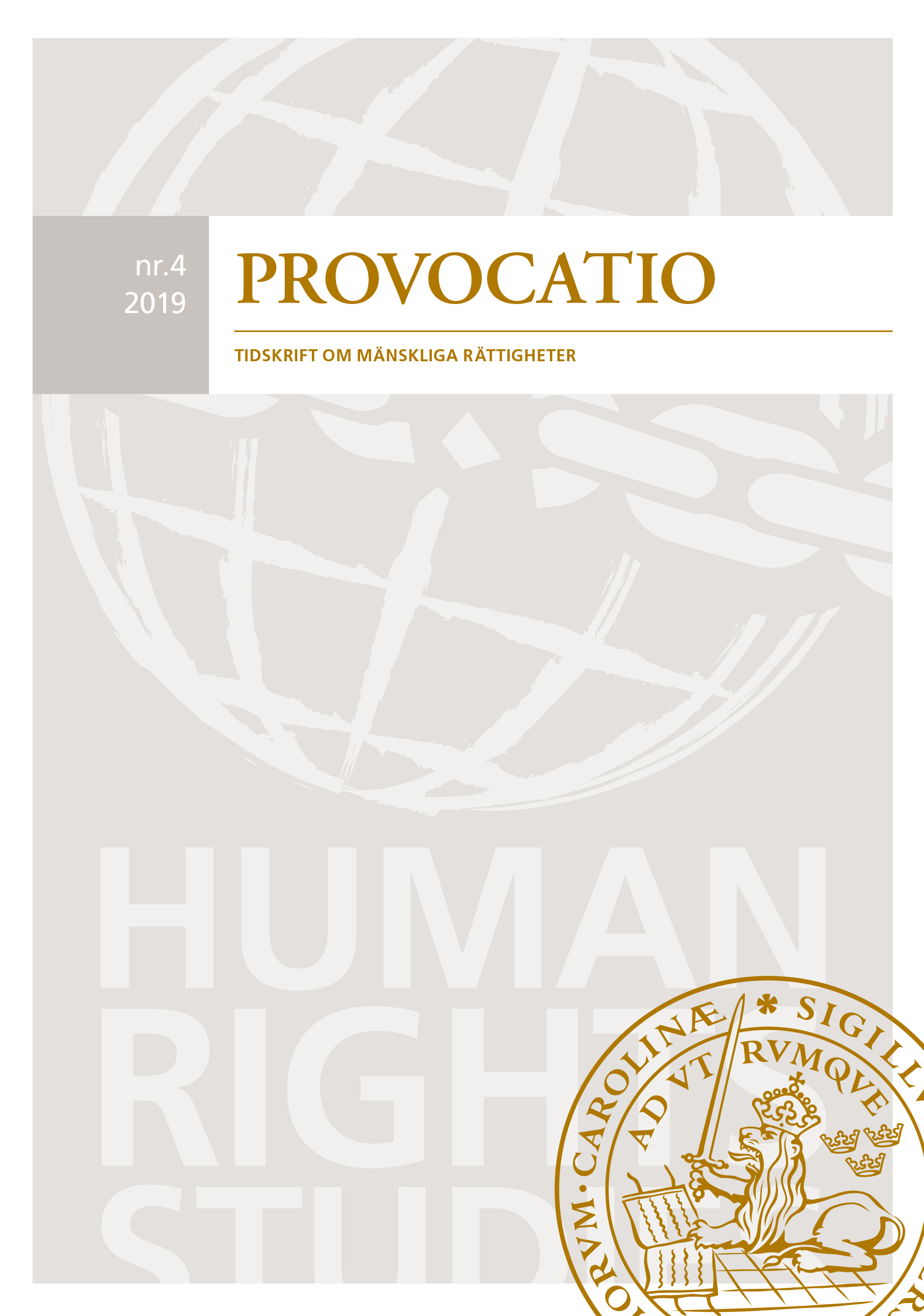 View No. 4 (2019): Provocatio. Journal of Human Rights