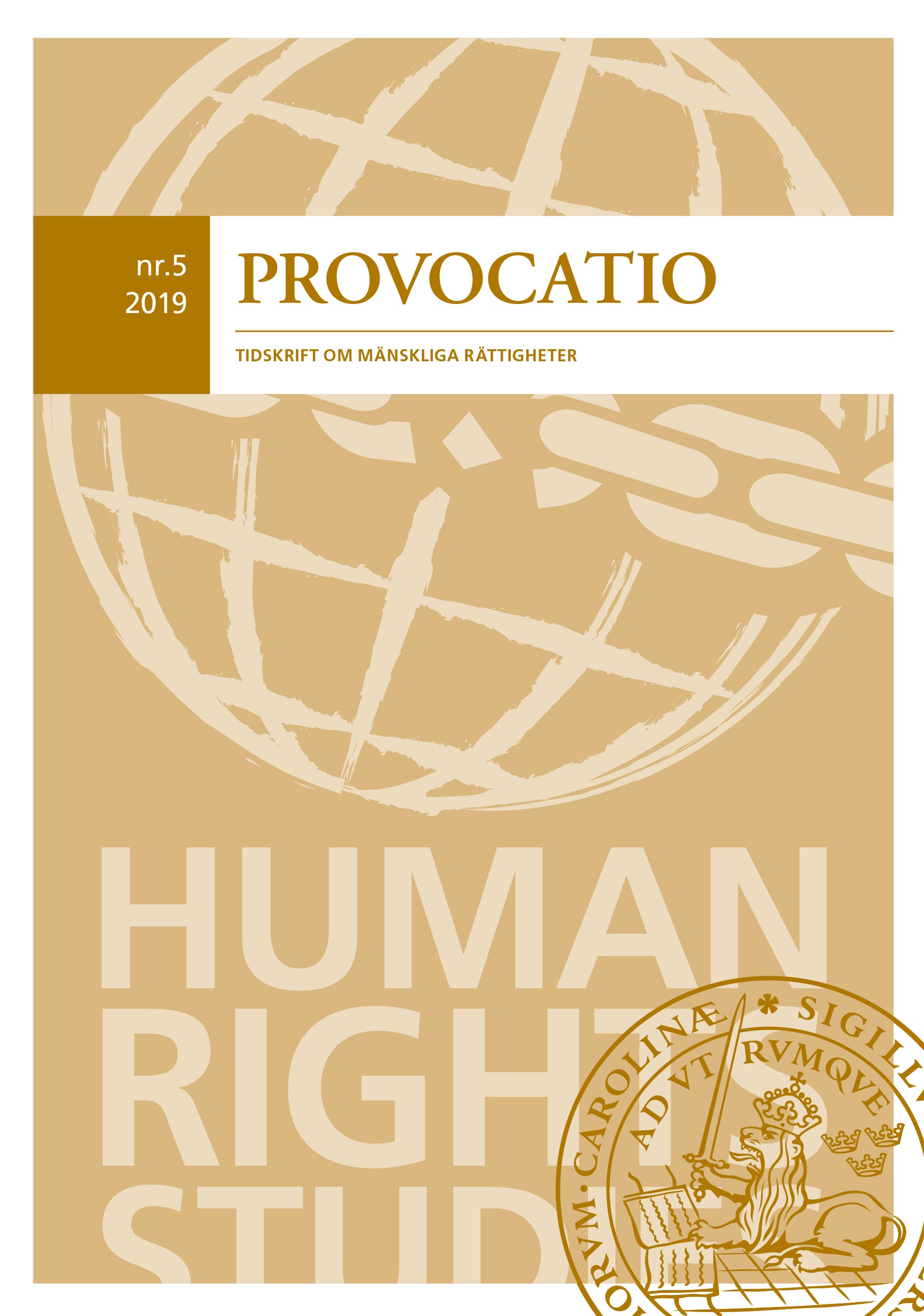 View No. 5 (2019): Provocatio. Journal of Human Rights