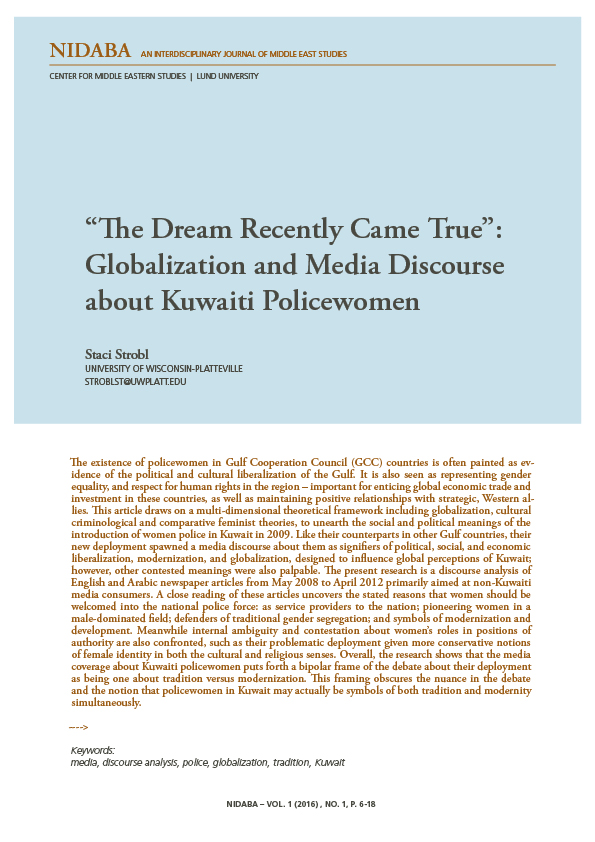 """The Dream Recently Came True"": Globalization and Media Discourse about Kuwaiti Policewomen"