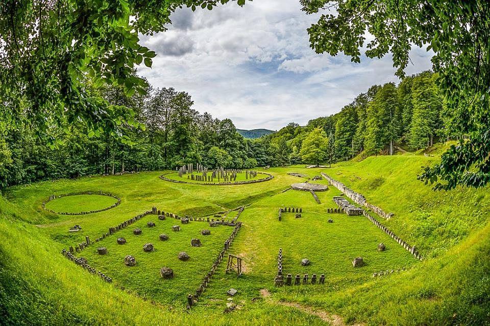 ruins of ancient Sacred Area of Sarmizegetusa Regia