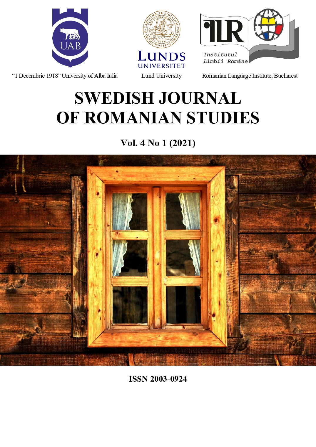 The cover photo was taken on April 20th, 2011 and represents the window to the reconstructed house of Fefeleaga in Bucium, Alba County, Romania