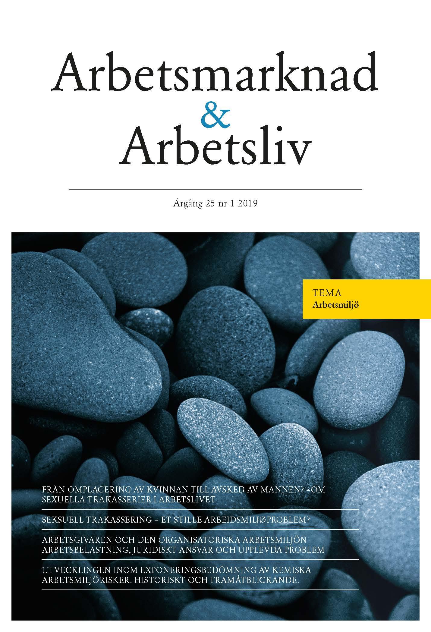 Visa Vol 25 Nr 1 (2019): Arbetsmarknad & Arbetsliv