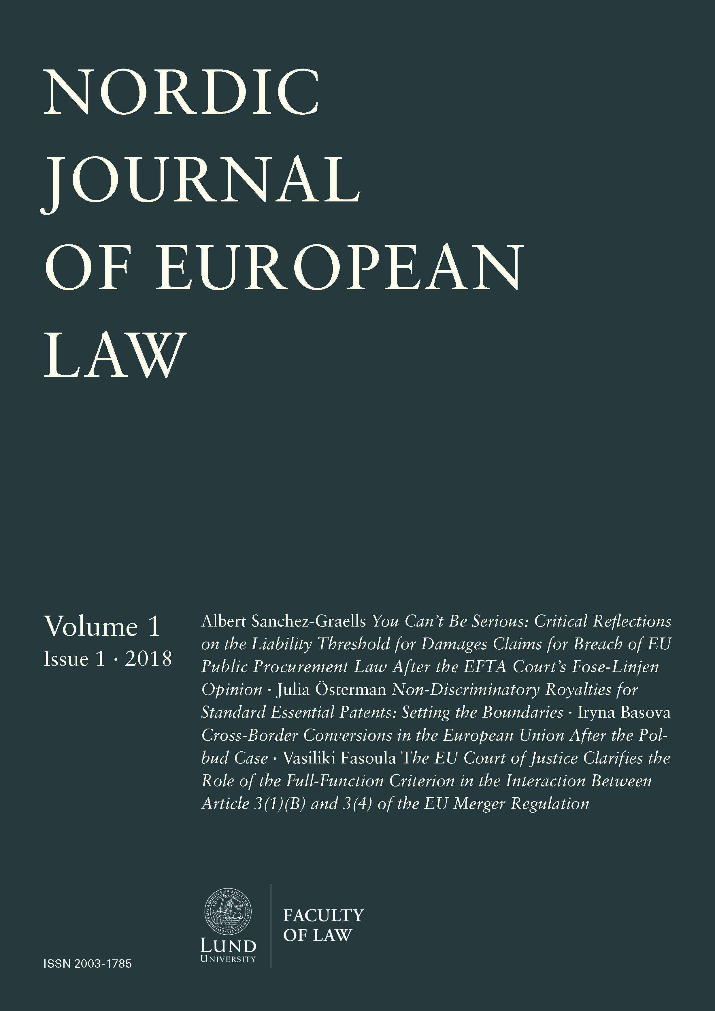 Nordic Journal of European Law