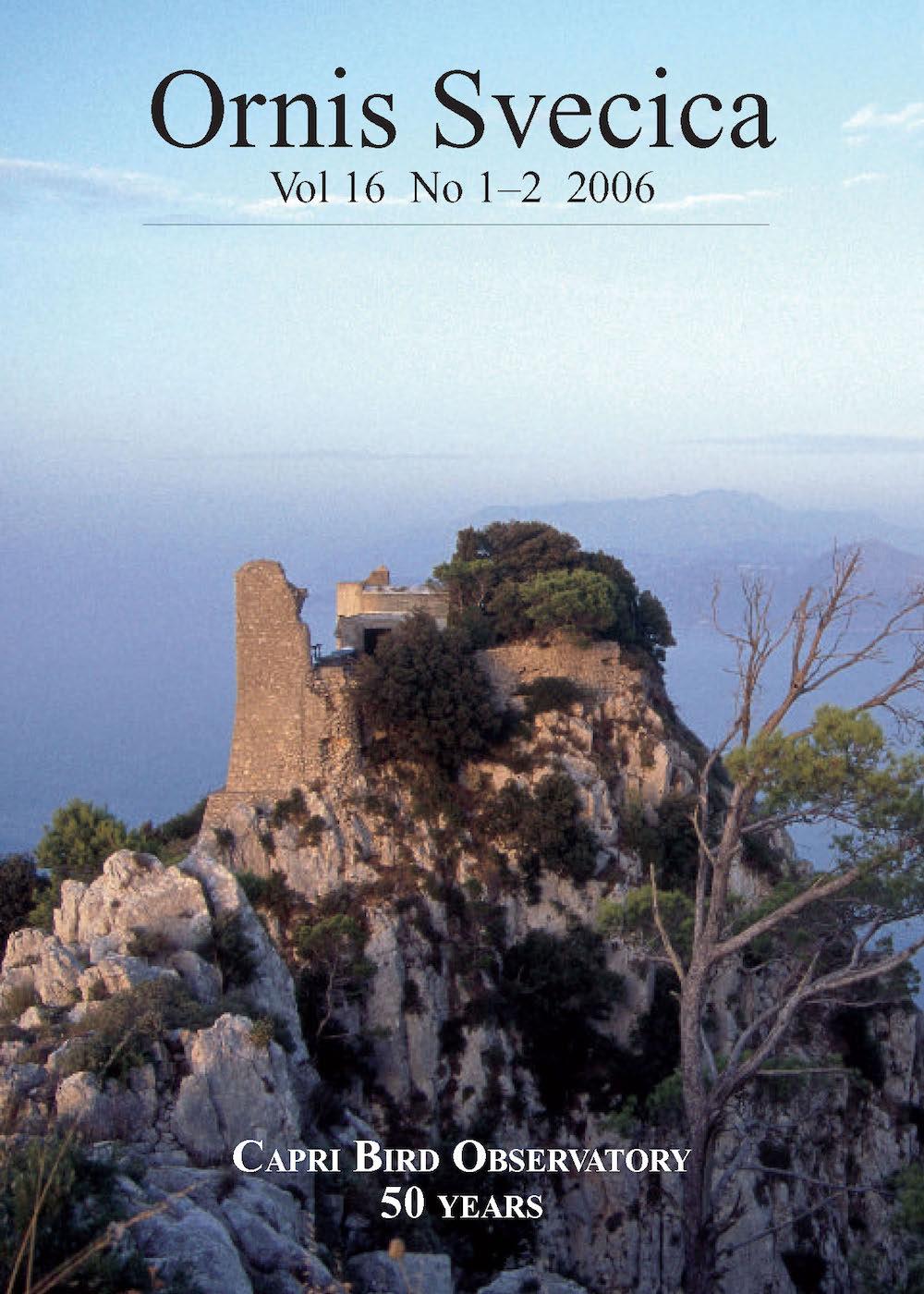 View Vol. 16 No. 1–2 (2006): Capri Bird Observatory 50 Years